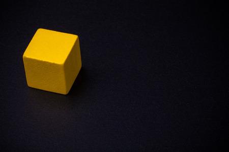 blankness: Cube on blackboard