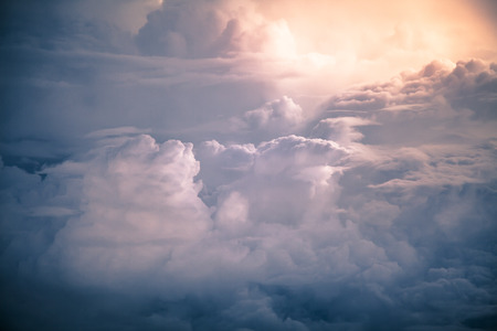 atmospheric: Dramatic storm clouds by overlooking