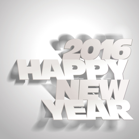 paper folding: 2016: Paper Folding with Happy New Year Letters Illustration
