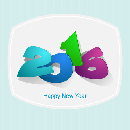 paper folding: 2016: Paper Folding with Letter, Happy New Year. Illustration