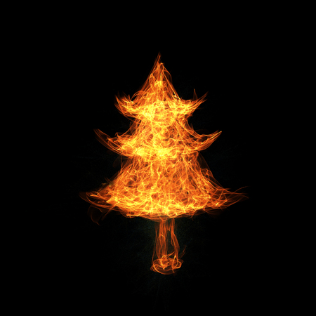 ignition: Christmas tree covered in flames
