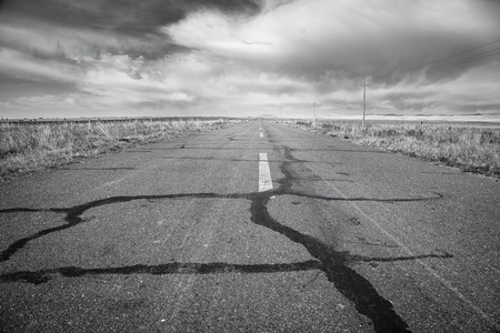 Straight road in china Stock Photo