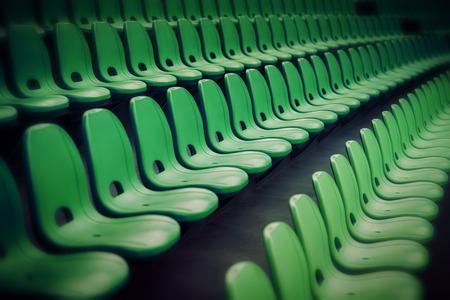 gradas estadio: Deporte estadio silla de plástico a la vista gradas fila