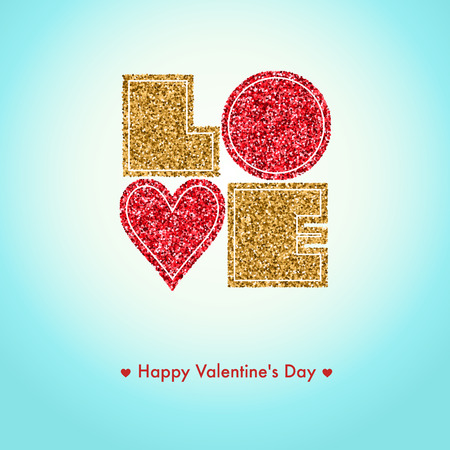 day saint valentin: Happy Valentines day card, i love you, font type