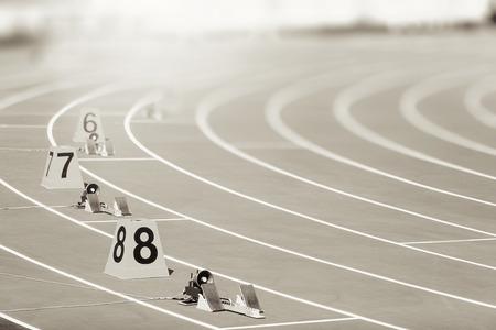 startblok in atletiek
