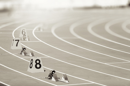 starting block in track and field 免版税图像