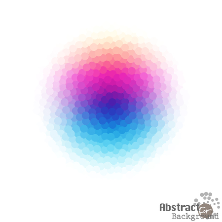 crystallization: Bright abstract colorful dotted crystal of Graphic on White Background