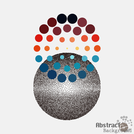 popart: Pop art stippling spotted dotted circle. Pop-art style dots illustration.