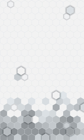 shinning light: Abstract hexagons pattern background  for mobile UI wallpaper