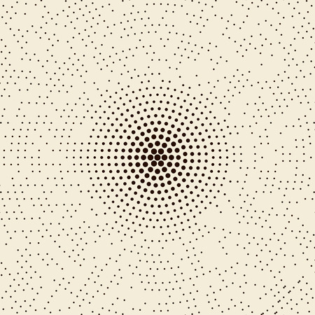 abstract dotted halftone radial pattern background.