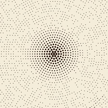 astratto tratteggiata mezzitoni radiale pattern di sfondo.