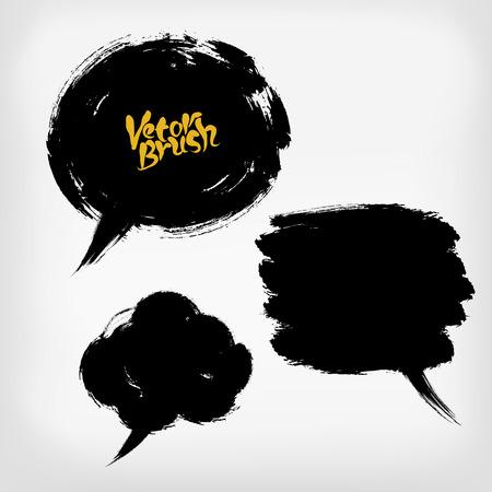 letter: Vector sketch of speech bubbles, hand drawn illustration Illustration