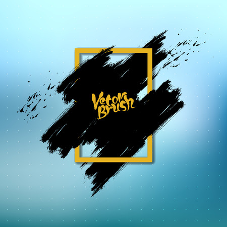 splash page: Vector abstract dry ink brush strokes with rough edges black background for your text or image.