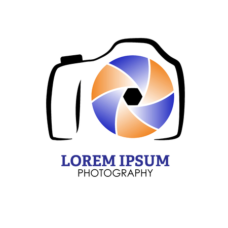 photo icon: Photo camera sign icon. Photo Camera Photography Elements and Video Camera Icons Illustration