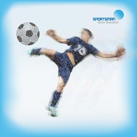 Spray texture football player, No. 10 player volley shot ball.