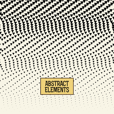 sheet of paper: abstracet geometric halftone triangle trippy seamless pattern background