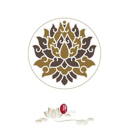 Chinese traditional lotus decoration pattern