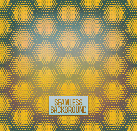 Abstract geometric graphic seamless hexagon pattern background.