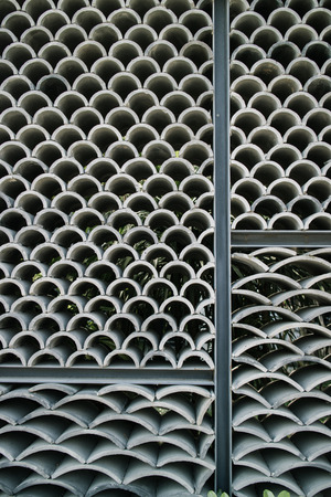 perforated: East Asian style wavy pattern of tile wall