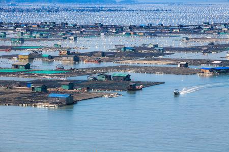 Seafood fish farming, Fujiang, China.