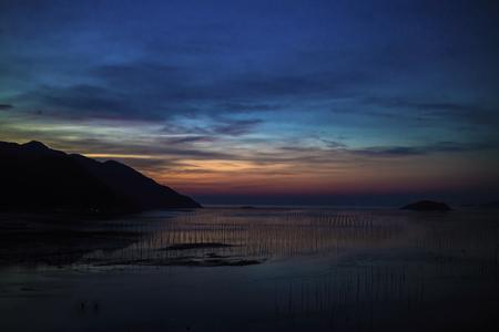 A view in the dusk in island, Xiapu, Fujian, China.