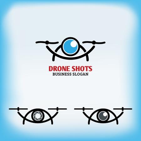 Drone quadrocopter design Illustration