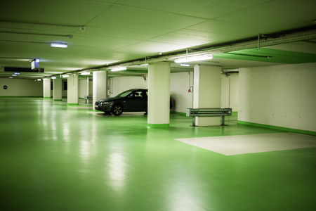 Parking garage in underground