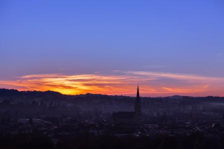 Sunrise in Graz Austria