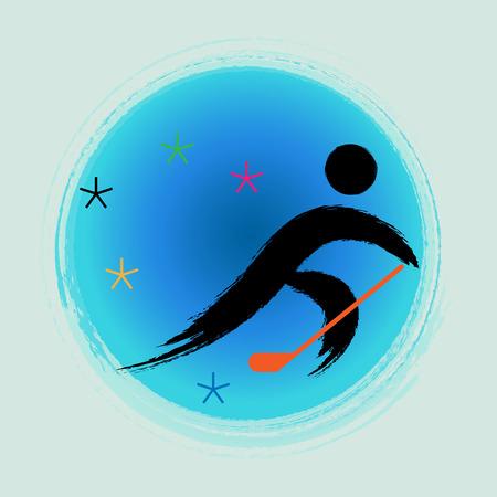 Ice Hockey - Winter games icon.
