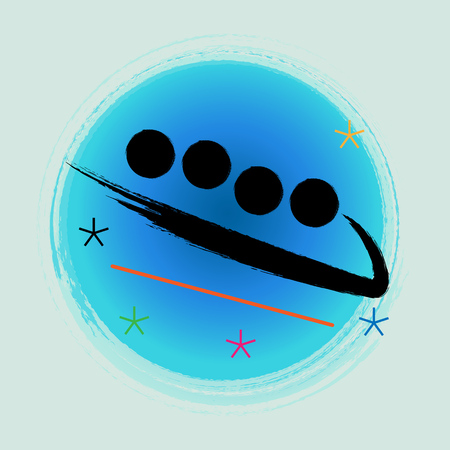 Bobsleigh - Winter games icon. Illustration