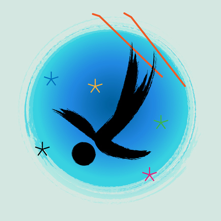 Freestyle Skiing Aerials - Winter games icon.