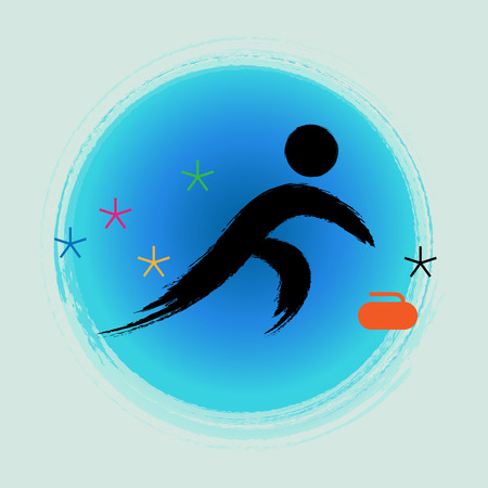 Curling - Winter games icon.
