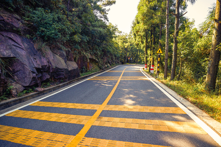 Road of mountains in China Stock Photo