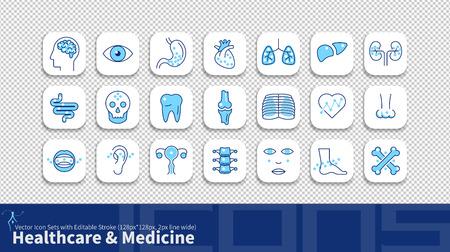 Symbol für moderne Einfachheitslinie mit bearbeitbarem Strich. Paket für Gesundheitswesen und Medizin.
