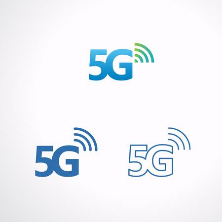 5G icon communication technology, Vector illustration.