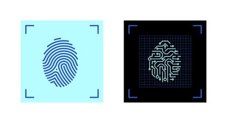 Fingerprint symbol electronic identification
