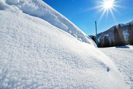 Snowdrift the winter hiking