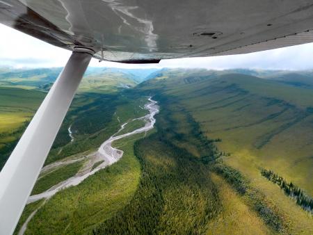 Flight over Denali National Park