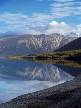 Kluane Lake Yukon Stock Photo
