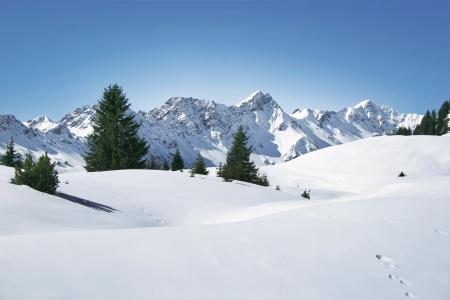 far sighted: Alps in winter