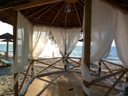Romantic beach pavilion