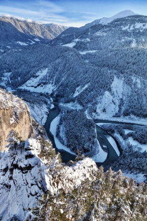 Rhine Gorge in Winter