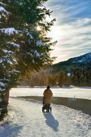 Romantic Winter Trail Stock Photo - 18311068