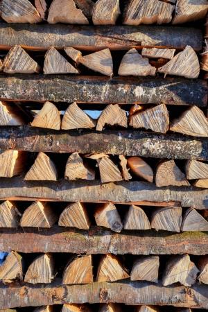Wooden cross stack