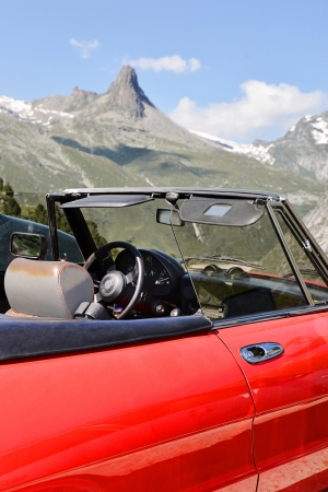 Trip to the mountains in the cabriolet