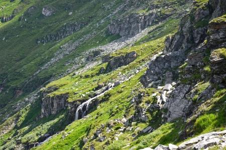 Wild and rocky mountain area Stock Photo