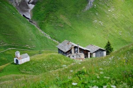 Alpine hut in Switzerland