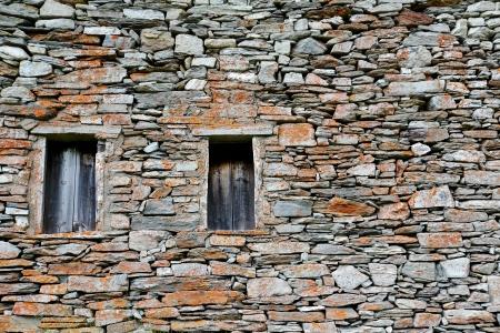 Old dry stone masonry Stock Photo