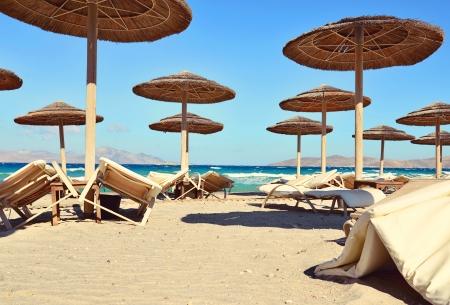 Deserted beach on the Mediterranean