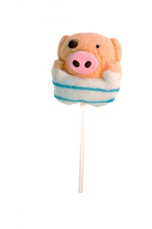 A cute pig's lollipop                              Stock Photo - 6255063